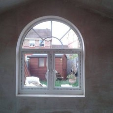 Plastering and Window